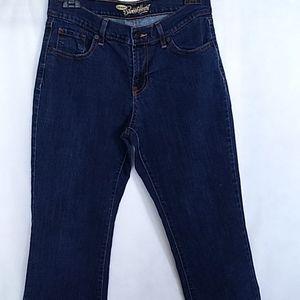 Old Navy the Sweet Heart Jeans Long Dark Blue Sz 8
